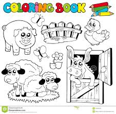 Royalty Free Stock Photo Download Coloring Book With Farm Animals