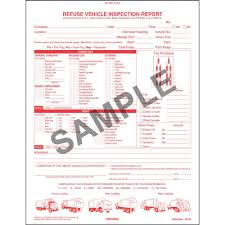 100 Truck Report Refuse Drivers Vehicle Inspection Book Format Stock