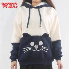 cat hoodies aliexpress buy warm cat wmen hoodies japanese kawaii clothes