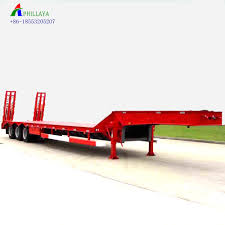 100 Truck Trailer Parts 3 Axle 40ton 60ton Low Bed Semi Low Bed Low