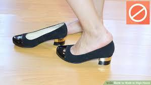 Image Titled Walk In High Heels Step 15