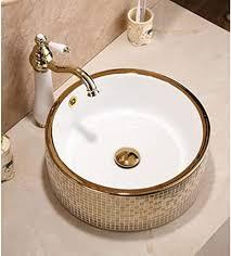 hiwenr runde badezimmer keramik aufsatzwaschbecken garderobe