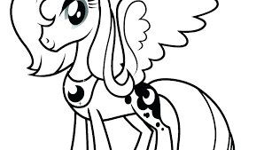 My Little Pony Coloring Page S Rarity Horse And Pages Free