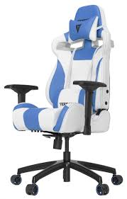 [WHITE/BLUE] Vertagear Racing Series S-Line SL4000 Gaming Chairs / 150KG  Weight Limit / Easy Assembly / Adjustable Seat Height / PENTA RS1 Casters /  ...