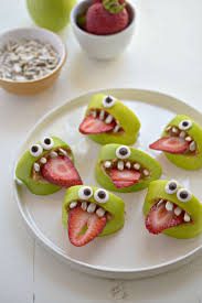 Ideas For Halloween Breakfast Foods by Silly Apple Bites Fork And Beans