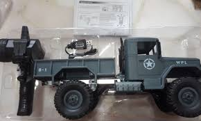 100 4wd Truck New WPL Ready To Run Green Military Truck Toys Games Others