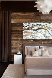 Reclaimed Wood Used As A Rustic Backdrop For Modern Furnishings Settingforfour