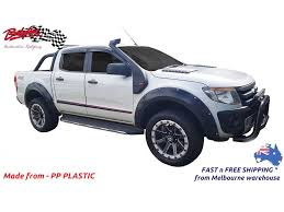 100 Truck Flares FORD RANGER PX1 20122015 FENDER FLARES WHEEL ARCH PAINTED MATTE