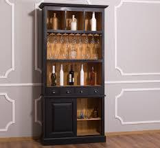 casa padrino landhausstil weinschrank schwarz naturfarben 103 x 36 x h 210 cm barschrank im landhausstil