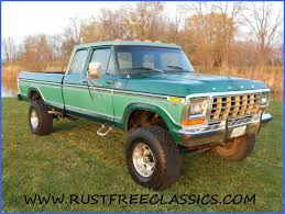 1978 F250 4x4 Super Cab Greem 460 At 4 Inch Lift Lariat Snow Fighter