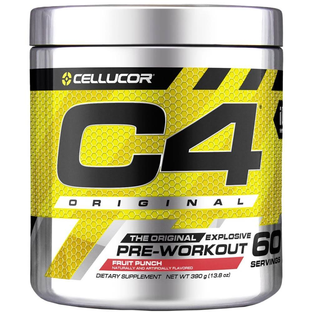Cellucor C4 Pre-Workout Explosive Energy, Fruit Punch - 60 servings, 13.7 oz tub