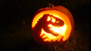 Halloween Pictures For Pumpkins by Making A Jurassic Park Pumpkin Youtube