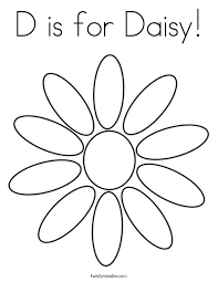 D Is For Daisy Coloring Page