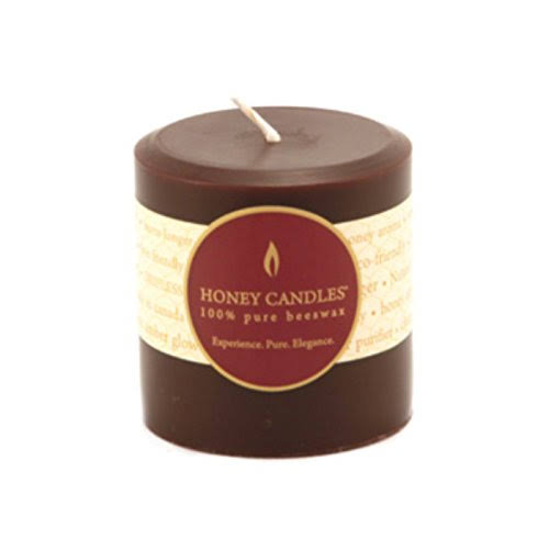 Honey Candles Round Pillar Beeswax Candle