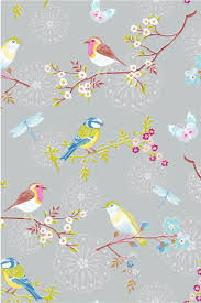 Pip Studio The Official Website Early Bird Wallpaper Grey