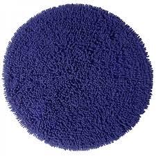 badezimmerteppich rund chenille royal blue blau