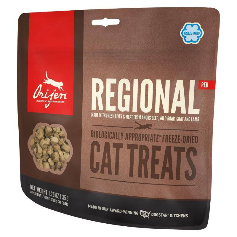 ORIJEN Cat Treats Freeze Dried Regional Red, 1.25 oz