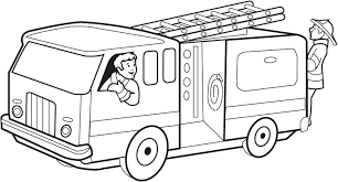 100 Fire Truck Drawing Spectacular Coloring Page Board Weekly On