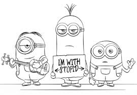 Click To See Printable Version Of Minions From Despicable Me 3 Coloring Page