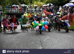 The quirky annual Braughing Wheelbarrow Race held on Summer evening at the village ford in