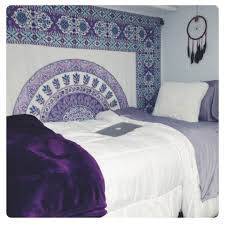 Large Purple Plum Bow Devi Medallion Tapestry