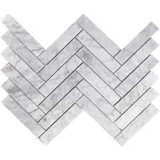 1 5 x6 herringbone mosaic polished carrara sessemo