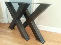 Dining Room Table Legs X Raw Steel