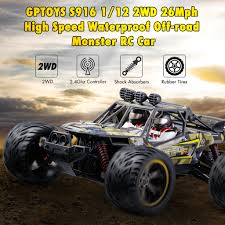 GPTOYS S916 RC Car 26Mph Remote Control Truck 1/12 Scale 2.4 GHz 2WD  Waterproof Off-road Monster Car-Best Gift For Kids And Adults (New Version) New Rc Car 112 4wd Waterproof Climbing Crawler Desert Truck Rtr Remote Control Electric Off Road Toys Adventures Scale Trucks 5 Waterproof Under Water Truck Custom Tamiya Tundra Cheap Free Rc Drift Cars Find Deals On Line At Monster Brushless Top2 18 Scale 24g Lipo 86298 Gp Toys Hobby Luctan S912 All Terrain 33mph 2wd Truggy Orange New Monster 116 24 Ghz Off Road Remote Control Csj34162 Insane Drives Under Ice Axial Scx10 Toyota Hilux Rcfrenzy Gptoys S916 26mph Ghz Offroad Carbest Gift For Kids And Adults Version Gizmovine Double Motors Crazon Steering Rock Details About Best Keliwow 6wd 24ghz Sale Online Shopping Cafagocom