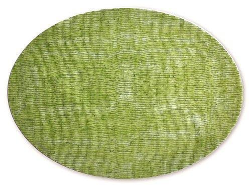 modern-twist Silicone Placemat, Cocoon Pattern,, Linen - Green Apple