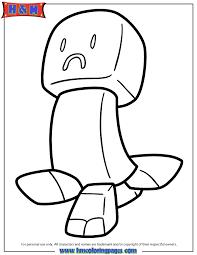 Sad Creeper Coloring Page