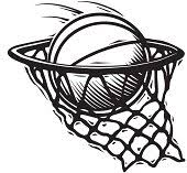 Basketball Going Through Net Clipart ClipartXtras