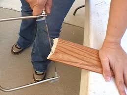 Cut Laminate Flooring With Miter Saw by How To Install Floor Molding How Tos Diy