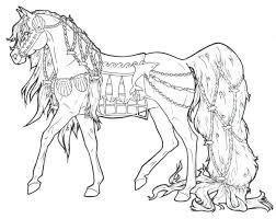 Horse Color Pages With Long Ponytail In Horses Coloring Page Spirit Printable