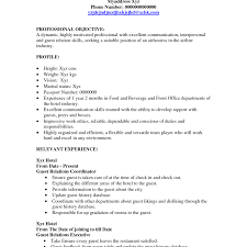 Hostess Skills Resume Free Resumes Tips