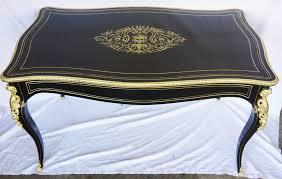 bureau napoleon 3 b200 grand bureau plat style louis xv boulle napoleon iii la