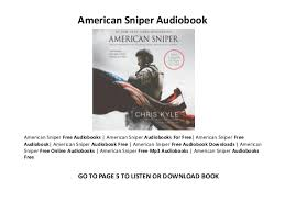American Sniper audiobooks on iphone