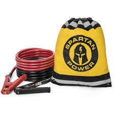 100 Tow Truck Jumper Cables 0 Gauge Heavy Duty Booster Set By Spartan Power 10