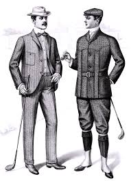 File1901 Sartorial Arts Journal Fashion Plate Mens Golfing Clothes
