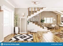100 Interior Design Modern House Of 3d Rendering Stock Illustration