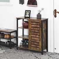 vasagle kommode mit 3 ablagen sideboard 70 x 30 x 81 cm flurregal im industrie design küchenschrank vintage lsc74bx