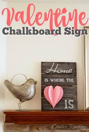 Create This Easy Valentine Chalkboard Sign With A Pretty 3D Paper Heart