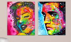 Colorful Famous People 14x11 Prints On Metal