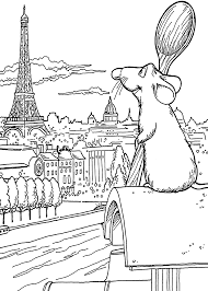 Ratatouille And Paris Coloring Pages For Kids Printable Free Copy