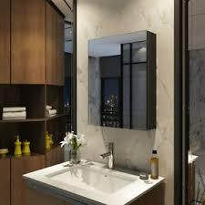 details zu emke spiegelschrank badezimmerregal badeschrank wandpiegel schwarz spiegel