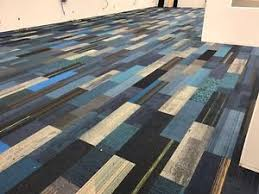 high quality carpet tile planks modular assorted blues 400 sq ft