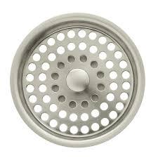 Install Sink Strainer Basket by Shop Kohler Duostrainer 4 In Vibrant Brushed Nickel Plastic