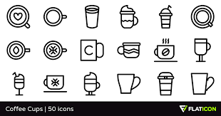 Coffee Cups 50 Free Icons SVG EPS PSD PNG Files