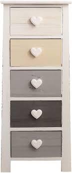 mobili schubladenschrank für schlafzimmer kommode mit 5 schubladen paulownienholz weiß grau beige schwarz vintage für schlafzimmer flur