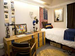 Bedroom Boys College Dorm Room With Wooden Daybed Added Desk Decorating Ideas For Guys Memsaheb Net