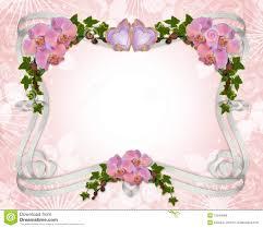 cadre photo mariage gratuit orchidées et lierre de cadre d invitation de mariage illustration